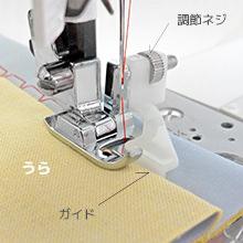 かくし縫い押え